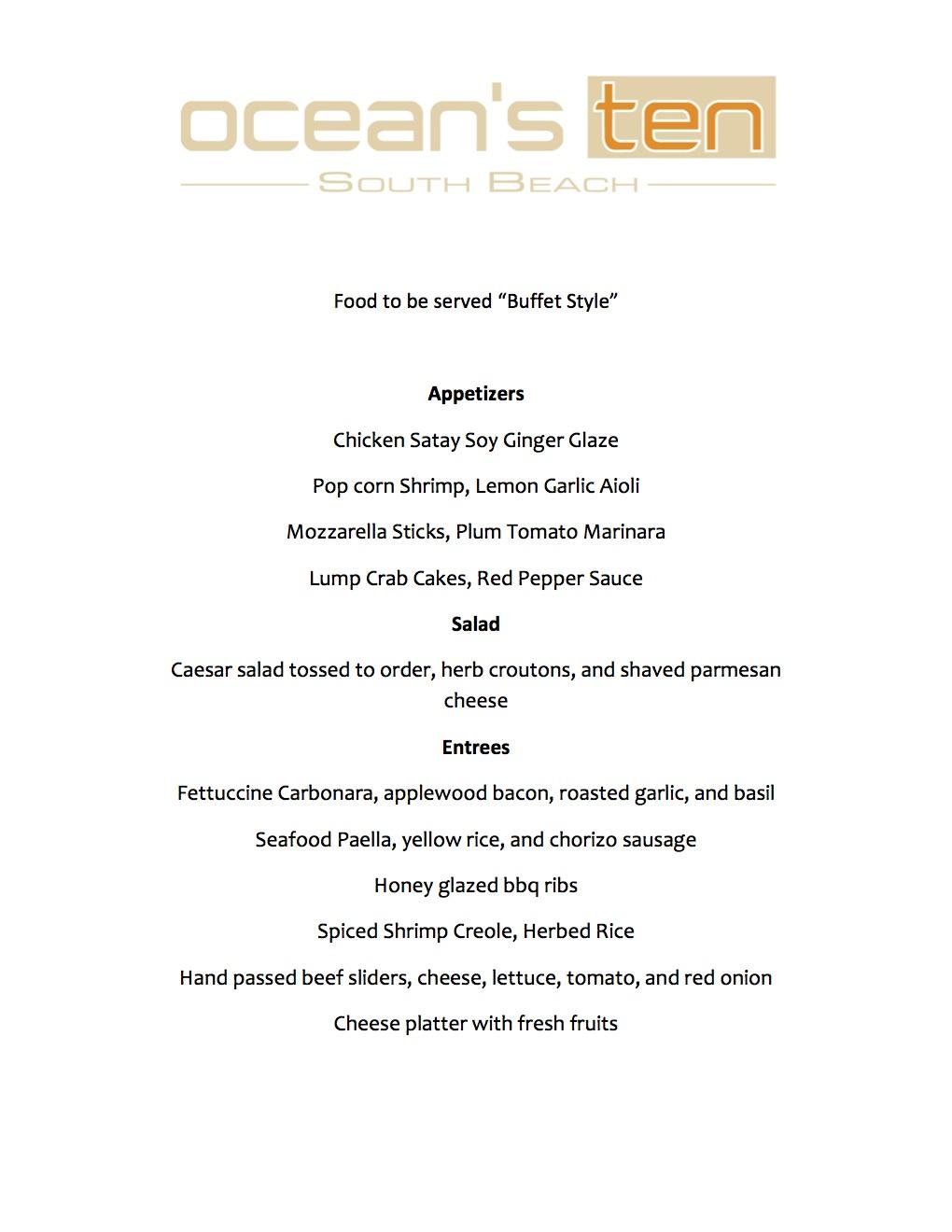 full group menu