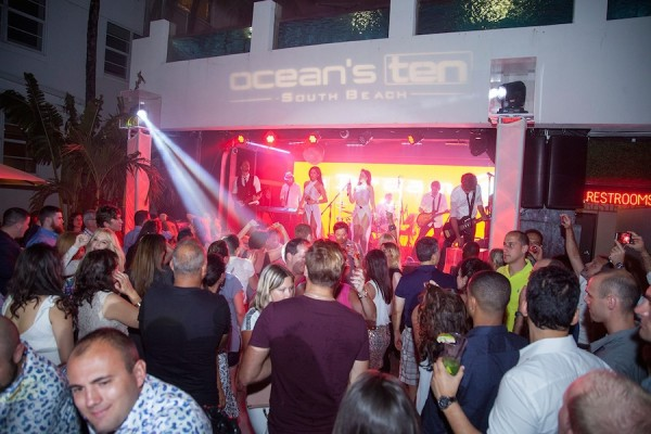 Oceans Ten South Beach night life event